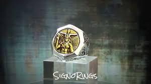 custom rings for men vintage 18k gold illuminati sterling silver masonic mens ring
