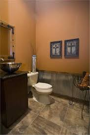 western themed bathroom ideas cool modern meets country twist the texture the metal