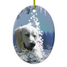 white lab ornaments keepsake ornaments zazzle