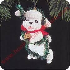 1994 hallmark puppy poodle keepsake ornament at