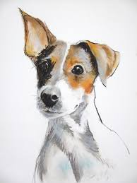 bichon frise x jack russell jack russell terrier dog art painting print artworks pinterest