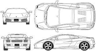 lamborghini gallardo blueprint car blueprints lamborghini gallardo blueprints vector drawings