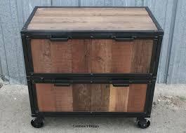 Antique Wood File Cabinet Modern Industrial File Cabinet Reclaimed Vintage Wood Filing