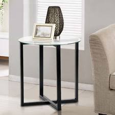 round glass side table glass end table ebay