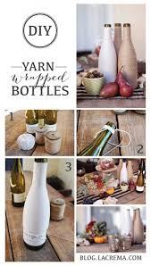 How To Decorate A Wine Bottle Diy Yarn Wrapped Wine Bottles