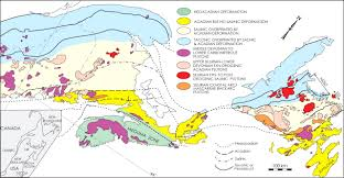 Appalachian Mountains Canada Map by Pre Carboniferous Episodic Accretion Related Orogenesis Along