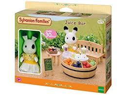 sylvanian families cuisine sylvanian families juice bar and figure amazon co uk toys