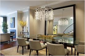 Chandelier For Dining Room Large Wall Mirror And Modern Chandelier For Dining Room