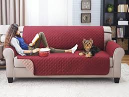 Kitchen Sofa Furniture Deluxe Reversible Sofa Furniture Protector Burgundy