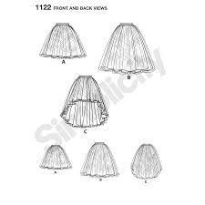 pattern for child u0027s and girls u0027 tulle skirts simplicity