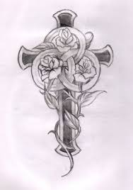 ladies cross tattoo designs crosses with roses and wings pita