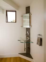 Powder Room With Pedestal Sink Corner Pedestal Sink Powder Room Contemporary With Awning Window