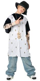 all white halloween mask boy u0027s rapper costume kids costumes