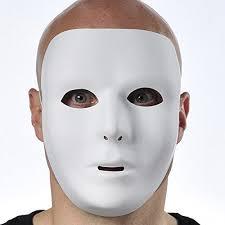 plain mask mystical masquerade party basic mask accessory white