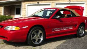 mustang of indianapolis sold 1994 ford mustang svt cobra pace car for sale 22 000