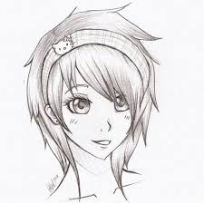 anime cute drawing pencil drawing art library