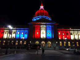 sf city hall lights city hall in solidarity with france tonight sanfrancisco