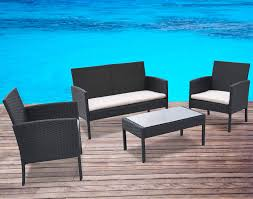 Henry Link Wicker Furniture Replacement Cushions Amazon Com Radeway 4 Piece Patio Rattan Black Wicker Beige