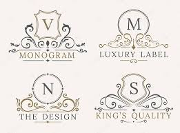 luxury logo template shield business sign for signboard monogram