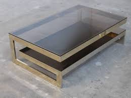 table coffee modern maison jansen g shaped 23 carat gold plated two tier coffee table