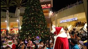 fashion valley mall tree lighting 2016