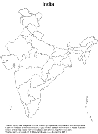 Map Of India With States by Blank India Map With States