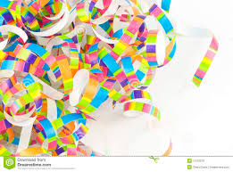 party ribbon colorful party ribbon white background stock image image of