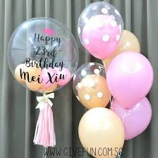 personalised birthday balloons 24 personalised clear transparent balloon mini fashion