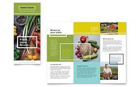 organic food brochure template word u0026 publisher