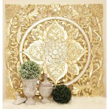 Home Depot Decorative Wall Panels 47 In X 47 In Decorative Filigree Patterned Wood And Mirror Wall