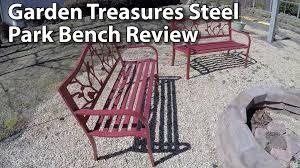 garden treasures steel bird park bench review youtube