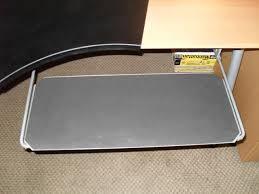 desk with keyboard tray ikea ikea galant desk w knos desk pad summera pull out keyboard shelf