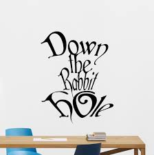 down the rabbit hole wall decal alice in wonderland vinyl sticker down the rabbit hole wall decal alice in wonderland vinyl sticker disney cartoon wall art design