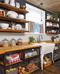 Rustic Spice Rack Kitchen Shelf Cabinet Made From Best Home 15 Rustic Kitchen Cabinets Designs Ideas With Photo Gallery