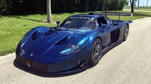 blue maserati rare maserati mc12 corsa yours for only 2 7 million