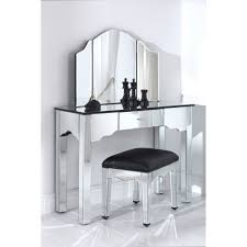 Antique Vanity Table With Mirror And Bench Deluxe Vintage Vanity Table With Mirror And Bench From Stainless