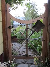 exterior garden gate from old tools backyard gates wooden fences