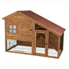 Rabbit Hutch Wood Trixie 4 9 Ft X 2 6 Ft X 3 5 Ft Rabbit Enclosure With A View
