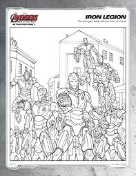 ultimate collection avengers age of ultron coloring pages