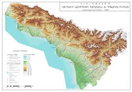 Asia Physical Map by Large Scale Physical Map Of Abkhazia Abkhazia Asia Mapsland