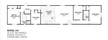 4 bedroom single wide mobile home floor plans 4 bedroom 2 bath single wide mobile home floor plans www