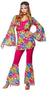 Flower Child Halloween Costumes Amazon Flower Child Bell Bottoms Women U0027s Costume Clothing