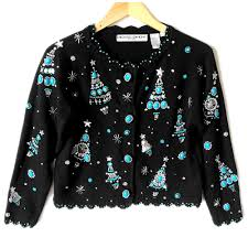 michael simon turquoise silver tacky sweater