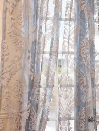 Patterned Sheer Curtains Agatha Taupe Gray Patterned Sheer Curtains And Drapes Beautiful