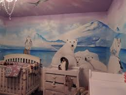 kids room murals sf bay area muralist polar bear kids mural