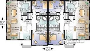 3 Bedroom Open Floor House Plans Multi Family Plan W3054 Detail From Drummondhouseplans Com
