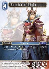 Warrior Of Light Warrior Of Light Water Opus I Final Fantasy Tcg Online