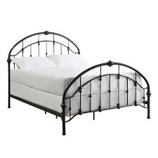 bed metal frame queen home design ideas with regard to iron full