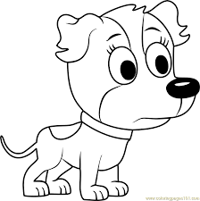 pound puppies coloring pages