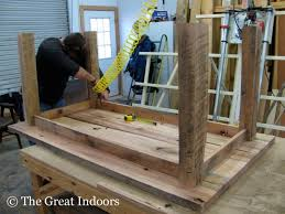 attaching legs to a table the great indoors our reclaimed barnwood table